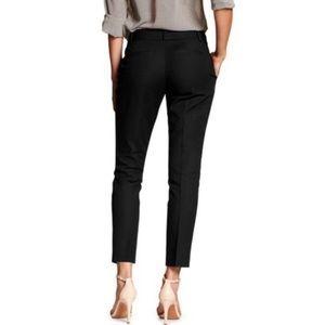 "Banana Republic factory black ""Jackson Fit"" viscose stretch Skinny pants Size 8"